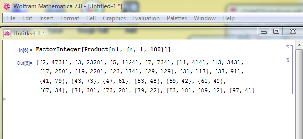 Proof that there are indeed 734 factors of 7 in the number <img src='http://s0.wp.com/latex.php?latex=100%21+%5Ccdot+99%21+%5Ccdot+%5Cldots+%5Ccdot+2%21+%5Ccdot+1%21+&bg=ffffff&fg=000000&s=0' alt='100! \cdot 99! \cdot \ldots \cdot 2! \cdot 1! ' title='100! \cdot 99! \cdot \ldots \cdot 2! \cdot 1! ' class='latex' />.