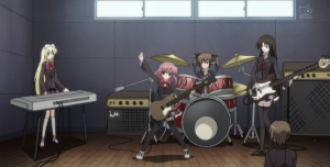 """Bands are in fashion lately in anime."""